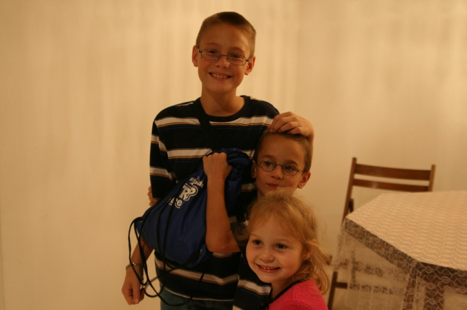 Taylor, Nicholas, and Alea, Dannys grandchildren